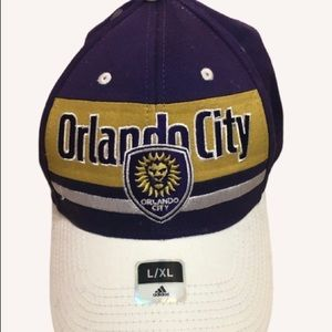 New Adidas Orlando City SC Fitted Hat L/XL
